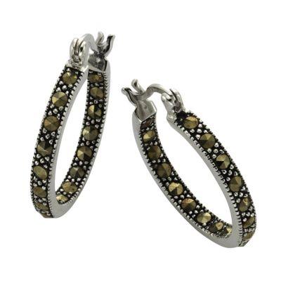 ZEEme Jewelry Creolen 925/- Sterling Silver Markasit