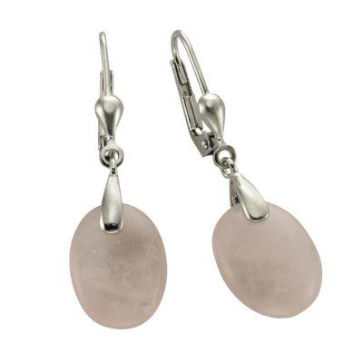 ZEEme Jewelry Ohrhänger 925/- Sterling Silber Rosenquarz