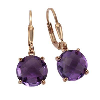 ZEEme Jewelry Ohrhänger 925/- Sterling Silber Amethyst