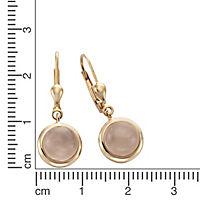ZEEme Jewelry Ohrhänger 925/- Sterling Silber Rosenquarz - Produktdetailbild 1