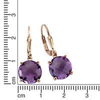 ZEEme Jewelry Ohrhänger 925/- Sterling Silber Amethyst - Produktdetailbild 1