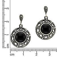 ZEEme Jewelry Ohrhänger 925/- Sterling Silber Achat schwarz - Produktdetailbild 1