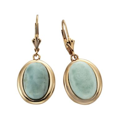 ZEEme Jewelry Ohrhänger 925/- Sterling Silber Larimar