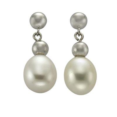 ZEEme Jewelry Ohrhänger 925/- Sterling Silber Perle oval