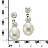 ZEEme Jewelry Ohrhänger 925/- Sterling Silber Perle oval - Produktdetailbild 1