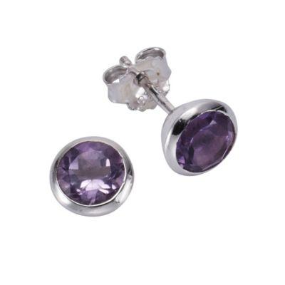 ZEEme Jewelry Ohrstecker 925/- Sterling Silber Amethyst