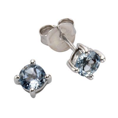 ZEEme Jewelry Ohrstecker 925/- Sterling Silber Blautopas