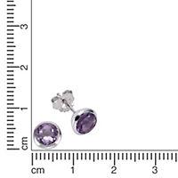 ZEEme Jewelry Ohrstecker 925/- Sterling Silber Amethyst - Produktdetailbild 1
