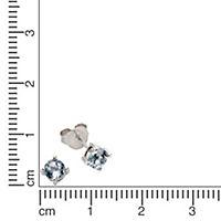 ZEEme Jewelry Ohrstecker 925/- Sterling Silber mit Blautopas - Produktdetailbild 1