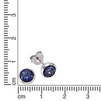 ZEEme Jewelry Ohrstecker 925/- Sterling Silber Topas dunkelblau - Produktdetailbild 1