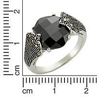 ZEEme Jewelry Ring 925/- Sterling Silber Achat Markasit (Größe: 058 (18,5)) - Produktdetailbild 1
