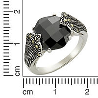 ZEEme Jewelry Ring 925/- Sterling Silber Achat Markasit (Größe: 060 (19,1)) - Produktdetailbild 1