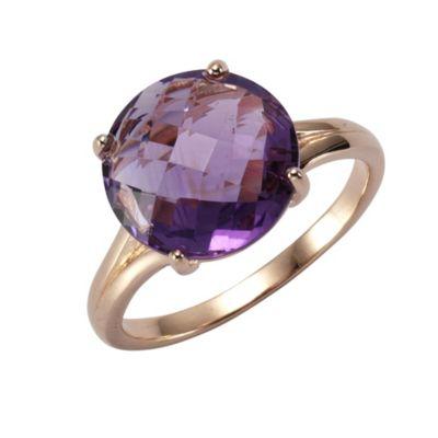 ZEEme Jewelry Ring 925/- Sterling Silber Amethyst (Größe: 056 (17,8))