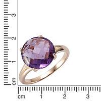 ZEEme Jewelry Ring 925/- Sterling Silber Amethyst (Größe: 058 (18,5)) - Produktdetailbild 1