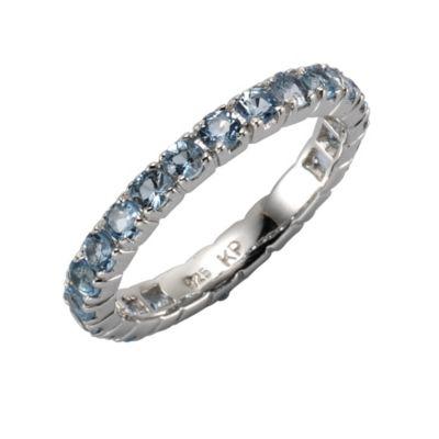 ZEEme Jewelry Ring 925/- Sterling Silber Blautopas (Größe: 052 (16,6))