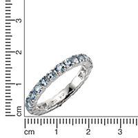 ZEEme Jewelry Ring 925/- Sterling Silber Blautopas (Größe: 060 (19,1)) - Produktdetailbild 1