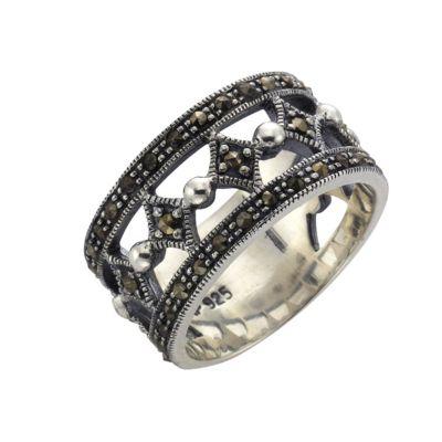 ZEEme Jewelry Ring 925/- Sterling Silber Markasit (Größe: 058 (18,5))