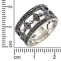 ZEEme Jewelry Ring 925/- Sterling Silber Markasit (Größe: 052 (16,6)) - Produktdetailbild 1