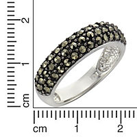 ZEEme Jewelry Ring 925/- Sterling Silber Markasit (Größe: 056 (17,8)) - Produktdetailbild 1
