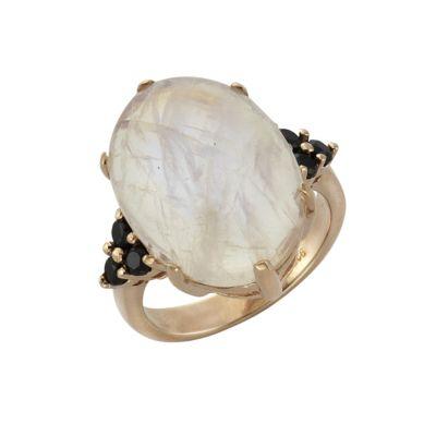 ZEEme Jewelry Ring 925/- Sterling Silber Mondstein und Spinell (Größe: 056 (17,8))