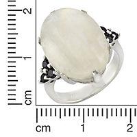 ZEEme Jewelry Ring 925/- Sterling Silber Mondstein und Spinell (Größe: 058 (18,5)) - Produktdetailbild 1