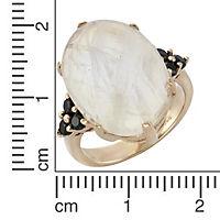 ZEEme Jewelry Ring 925/- Sterling Silber Mondstein und Spinell (Größe: 056 (17,8)) - Produktdetailbild 1