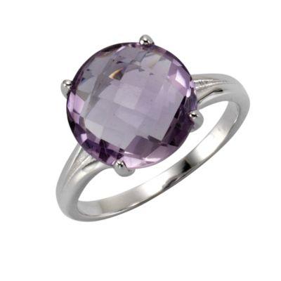 ZEEme Jewelry Ring 925/- Sterling Silber rhodiniert Amethyst (Größe: 060 (19,1))