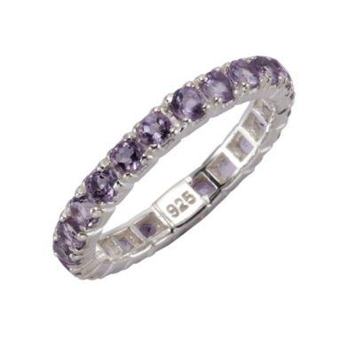 ZEEme Jewelry Ring 925/- Sterling Silber rhodiniert Amethyst (Größe: 058 (18,5))
