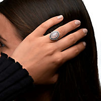 ZEEme Jewelry Ring 925/- Sterling Silber rhodiniert Rosenquarz (Größe: 054 (17,2)) - Produktdetailbild 1