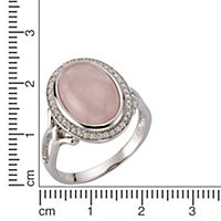 ZEEme Jewelry Ring 925/- Sterling Silber rhodiniert Rosenquarz (Größe: 058 (18,5)) - Produktdetailbild 1
