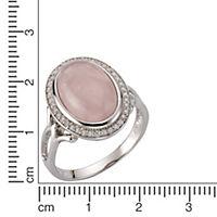 ZEEme Jewelry Ring 925/- Sterling Silber rhodiniert Rosenquarz (Größe: 060 (19,1)) - Produktdetailbild 2