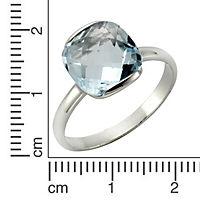 ZEEme Jewelry Ring 925/- Sterling Silber rhodiniert Blautopas (Größe: 052 (16,6)) - Produktdetailbild 1