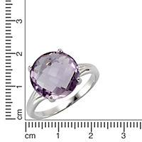 ZEEme Jewelry Ring 925/- Sterling Silber rhodiniert Amethyst (Größe: 060 (19,1)) - Produktdetailbild 2