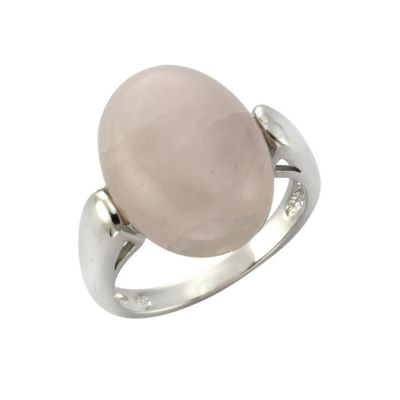 ZEEme Jewelry Ring 925/- Sterling Silber Rosenquarz (Größe: 054 (17,2))