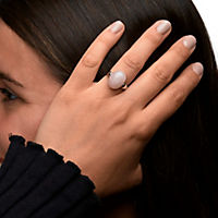 ZEEme Jewelry Ring 925/- Sterling Silber Rosenquarz (Größe: 052 (16,6)) - Produktdetailbild 2