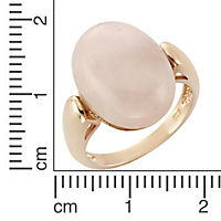 ZEEme Jewelry Ring 925/- Sterling Silber Rosenquarz (Größe: 058 (18,5)) - Produktdetailbild 1