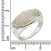 ZEEme Jewelry Ring 925/- Sterling Silber Rosenquarz (Größe: 052 (16,6)) - Produktdetailbild 1