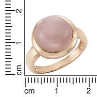 ZEEme Jewelry Ring 925/- Sterling Silber rotvergoldet Rosenquarz (Größe: 056 (17,8)) - Produktdetailbild 2
