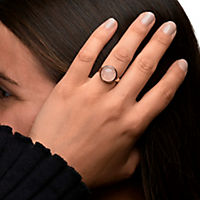 ZEEme Jewelry Ring 925/- Sterling Silber rotvergoldet Rosenquarz (Größe: 060 (19,1)) - Produktdetailbild 2