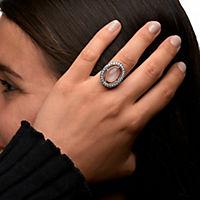 ZEEme Jewelry Ring 925/- Sterling Silber rotvergoldet Mondstein (Größe: 058 (18,5)) - Produktdetailbild 1