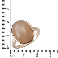 ZEEme Jewelry Ring 925/- Sterling Silber rotvergoldet Mondstein (Größe: 060 (19,1)) - Produktdetailbild 1