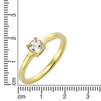 ZEEme Jewelry Ring 925/- Sterling Silber vergoldet mit Weißtopas (Größe: 052 (16,6)) - Produktdetailbild 1