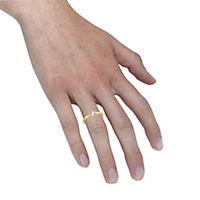 ZEEme Jewelry Ring 925/- Sterling Silber vergoldet mit Weißtopas (Größe: 052 (16,6)) - Produktdetailbild 2