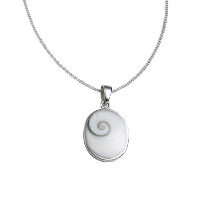 ZEEme Pearls Anhänger mit Kette 925/- Sterling Silber Muschel