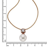ZEEme Pearls Anhänger mit Kette 925/- Sterling Silber Perle weiß - Produktdetailbild 1