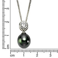 ZEEme Pearls Anhänger mit Kette 925/- Sterling Silber Perle schwarz - Produktdetailbild 1