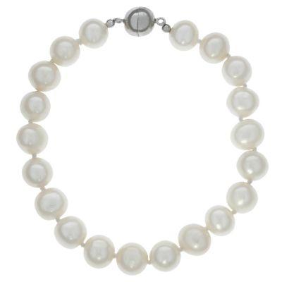 ZEEme Pearls Armband 925/- Sterling Silber Perlarmband 19cm