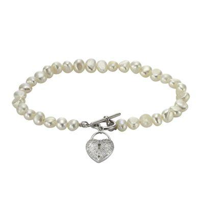 ZEEme Pearls Armband 925/- Sterling Silber Perle Zirkonia