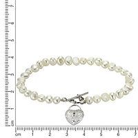 ZEEme Pearls Armband 925/- Sterling Silber Perle Zirkonia - Produktdetailbild 1