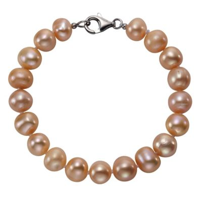 ZEEme Pearls Armband 925/- Sterling Silber Perle rosé